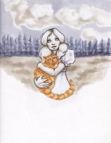 Primrose Everdeen fan art from the Hunger Games, buttercup, cat, copics