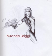venture brothers, assassin, girl with a gun, ball point pen