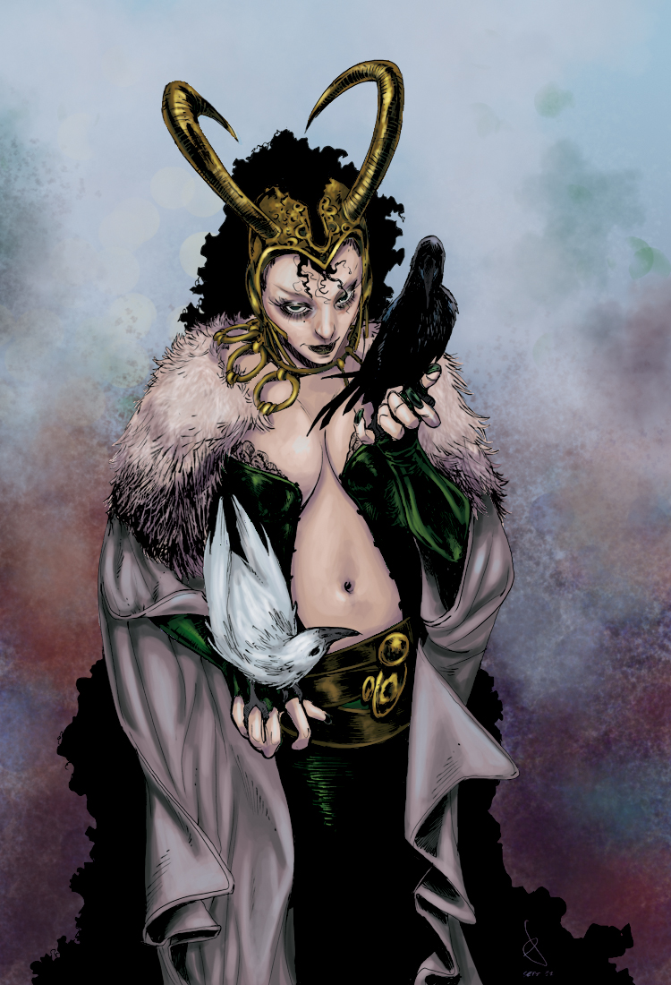 lady loki, marvel, hugin, munin, loki colors, coloring, colorist, color