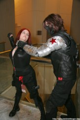 cosplay, winterwidow, bucky barnes, bucky, bucky nat, buckynat, natasha romanoff, black widow, natalia romanova, winter widow, marvel, marvel cosplay, dragon con, dragoncon, Dragon*con, metal arm