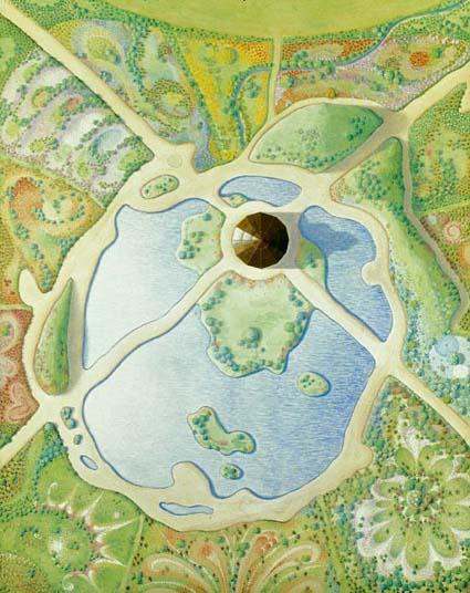 Miramandir: design for the surrounding garden and lake