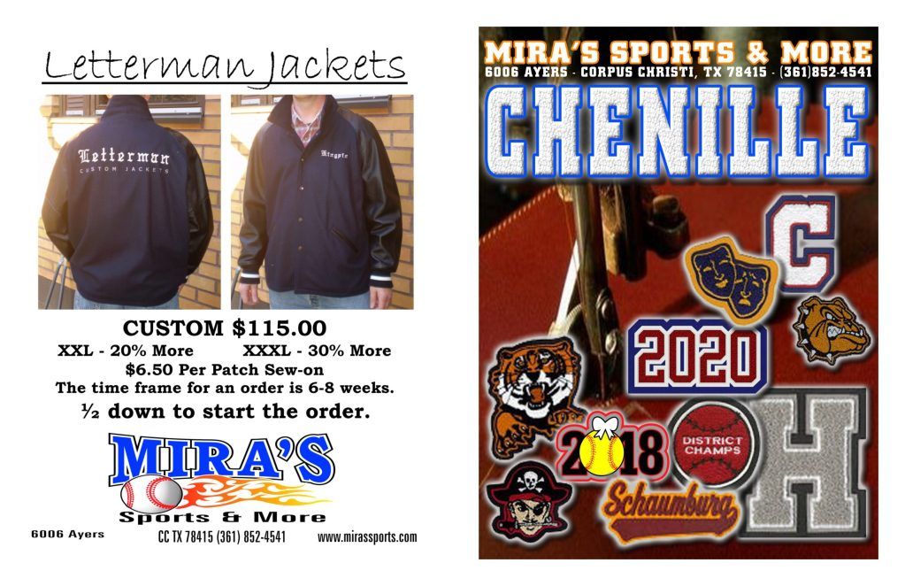 Miras Letterman Jackets and Patches 1