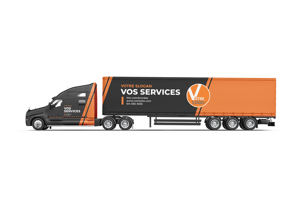 Habillage et lettrage de camions