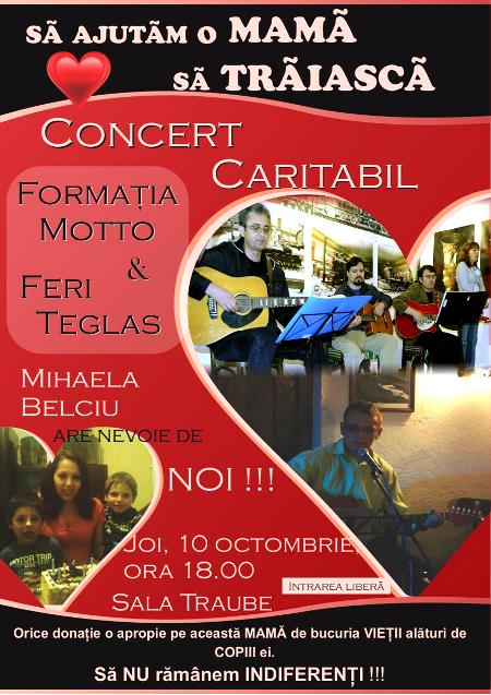 afis concert caritabil Motto & Feri Teglas