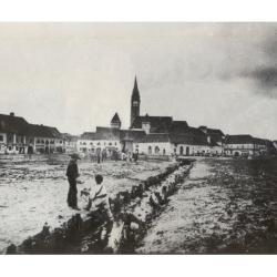 Foto document : Valea Mosnei prin centrul Mediasului