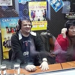 Foto: Carmen Ionescu si Andrei Duban la Radio Ring