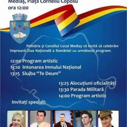 Programul Zilei Nationale a Romaniei la Medias