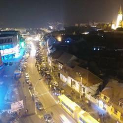 Mediesenii protesteaza (video drona)
