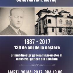 "Eveniment aniversar ""Constantin Ioan Motas – 130 de ani de la nastere"""