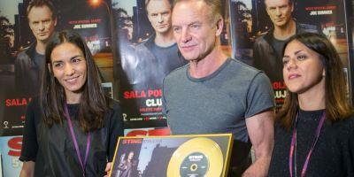Universal Music Romania i-a acordat discul de aur lui Sting