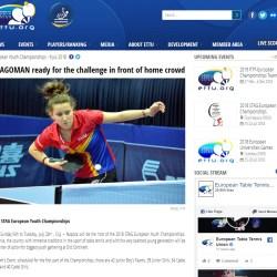 European Table Tennis Union scrie despre Andreea Dragoman