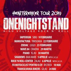 Onenightstand anunta Heartbreaker Tour 2019