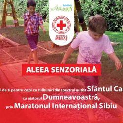 Crucea Roșie Mediaș creează o alee senzorială