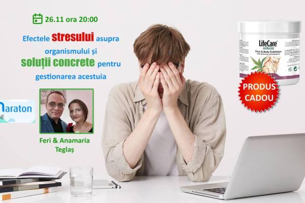 """Seara sănătăţii cu tema """"Efectele stresului asupra organismului și soluții concrete pentru gestionarea acestuia"""""""