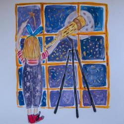 Aventurile Fetiţei-Curcubeu continuă cu povestea Zbor în Cosmos