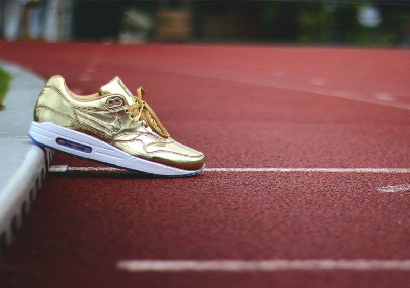Nike Tenisky NikeiD Air Max 1 - zlaté