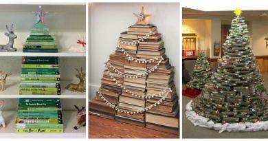 Nádherný vánoční stromek z vlastní oblíbené knihovny