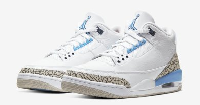 Tenisky Air Jordan 3 UNC White and Blue