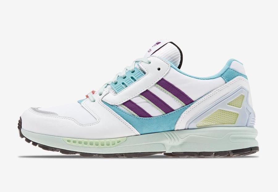 adidas originals zx 8000 light aqua sneaker blau