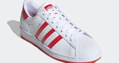 Tenisky adidas Superstar White Lush Red FW6011