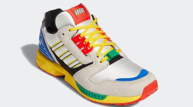 Pánské barevné tenisky a boty LEGO x adidas ZX 8000 White Black Green Blue Yellow Red FZ3482 nízké botasky a obuv adidas