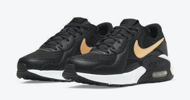Pánské černé tenisky a boty Nike Air Max Excee White/Black/Gold DH1088-001 sportovní nízké botasky a obuv Nike
