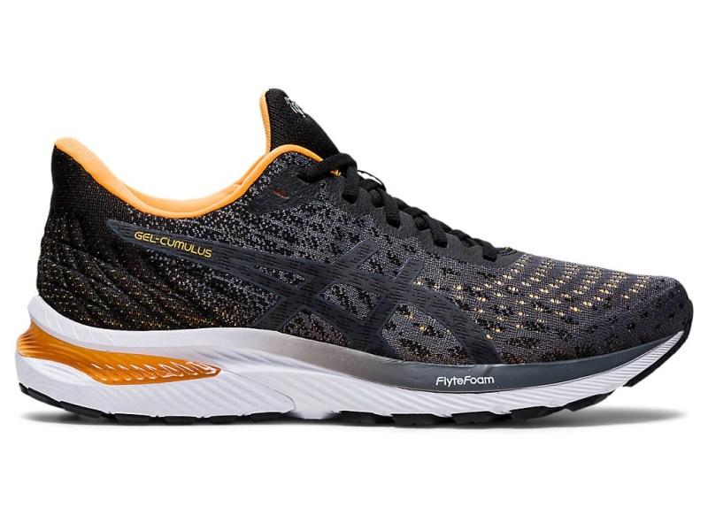 Pánské šedé černé tenisky a boty Asics Gel-Cumulus 22 Knit Carrier Grey/Black 1011A861-020 nízké běžecké botasky a obuv Asics