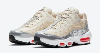 Pánské krémové tenisky a boty 3M x Nike Air Max 95 Cream Metallic Silver White Red CT1935-100 nízké botasky a obuv Nike