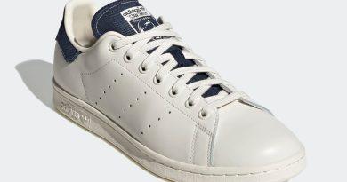 Pánské bílé tenisky a boty adidas Stan Smith Off White/Collegiate Navy-Collegiate Navy FW4424 kožené nízké botasky a obuv adidas