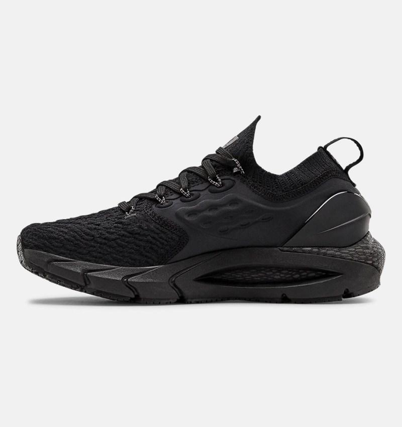 Dámské černé tenisky a boty Under Armour Hovr Phantom 2 Black/Black/Black 3023021-002 nízké běžecké botasky a obuv UA