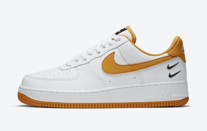 Pánské bílé tenisky a botasky Nike Air Force 1 Low Core White/Wheat CT2300-100 kožené nízké volnočasové boty a obuv Nike AF1