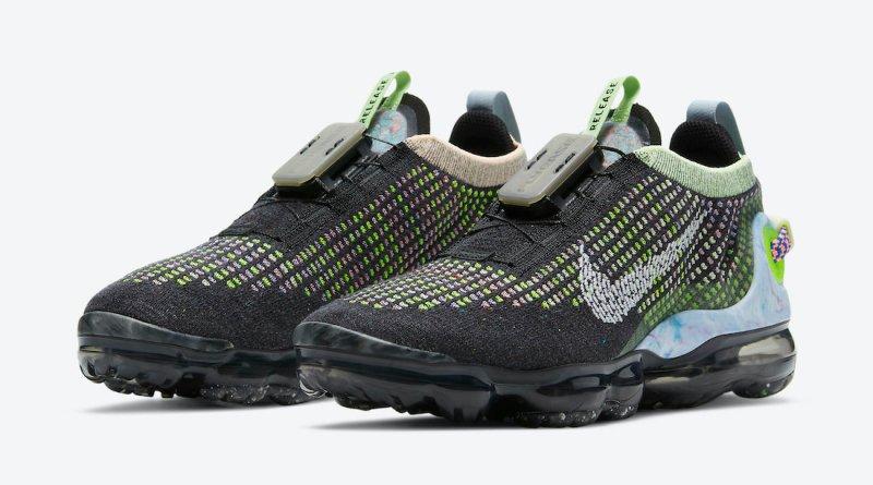 Pánské černé tenisky a boty Nike Air VaporMax 2020 Black/White-Barely Volt-Atomic Pink-Royal Pulse CT1933-001 běžecké botasky a obuv Nike