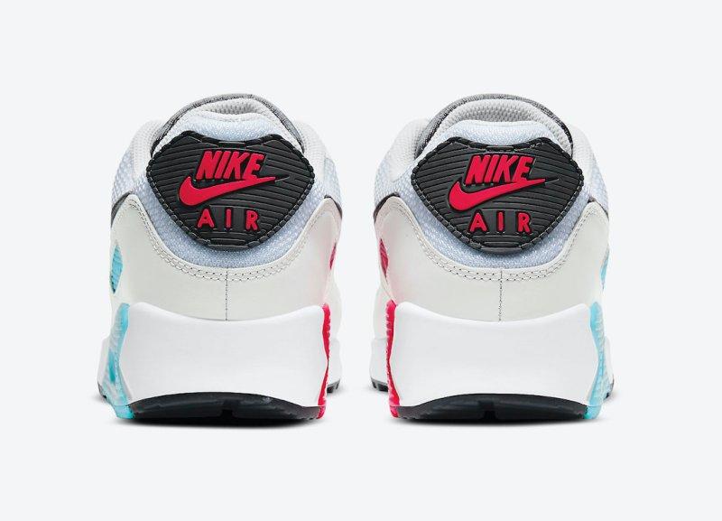 Pánské bílé tenisky a boty Nike Air Max 90 White/Iron Grey-Chlorine Blue CV8839-100 sportovní nízké botasky a obuv Nike