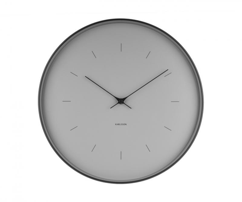 Orologio moderno con uccellini lineasette ceramiche orologi da parete e appoggio. Orologi Da Parete E Appoggio Orologio Da Parete Moderno Karlsson Cassa Nera Quadrante Grigio Cm 37
