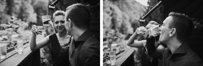 samobor old town engagement session mirela bauer photography having a drink