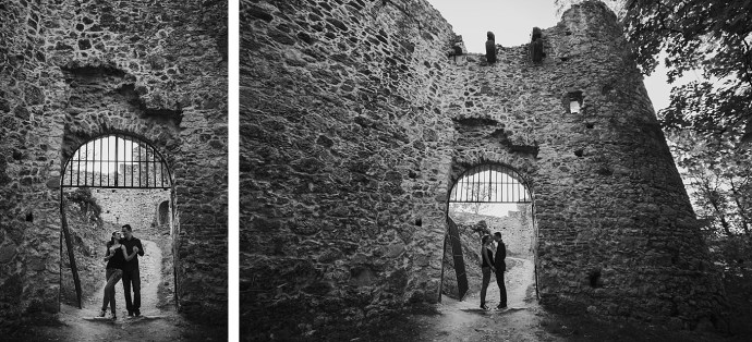 samobor old town engagement session mirela bauer photography at gate