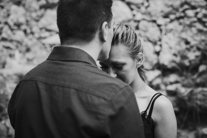 samobor old town engagement session mirela bauer photography kiss on the forehead