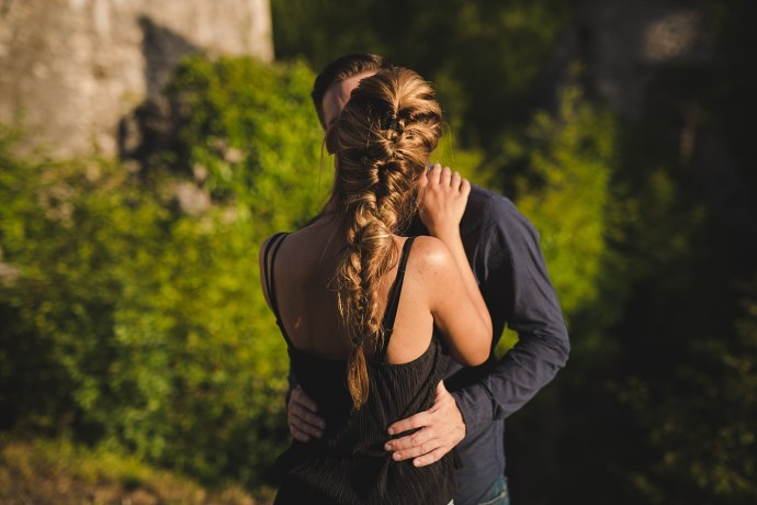 samobor old town engagement session mirela bauer photography a kiss