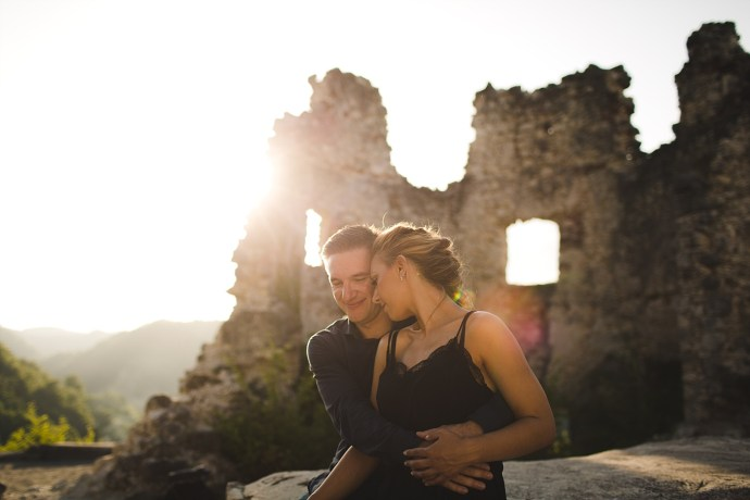 samobor old town engagement session mirela bauer photography backlight