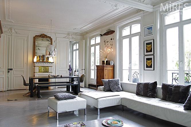 Haussmanien et parquet peint C0068  Mires Paris