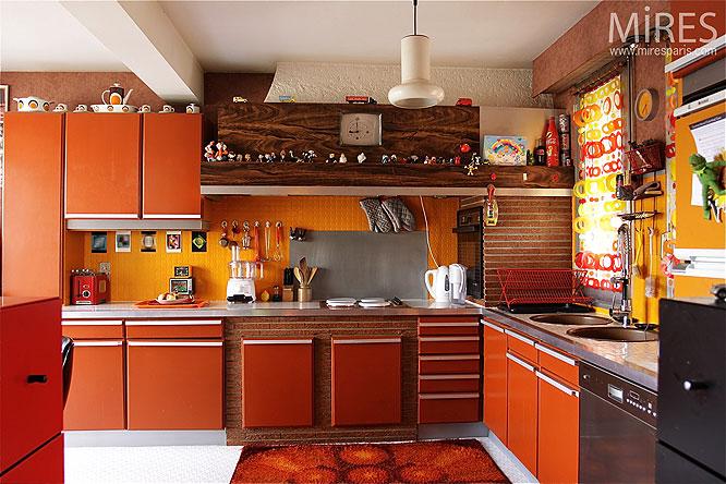deco cuisine annee 70