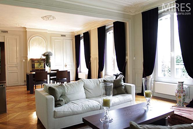 Double sjour haussmannien C0127  Mires Paris