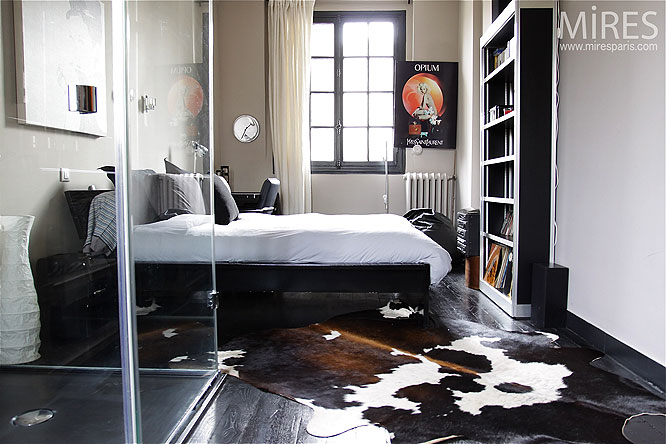 Chambre et parquet noir C0194  Mires Paris