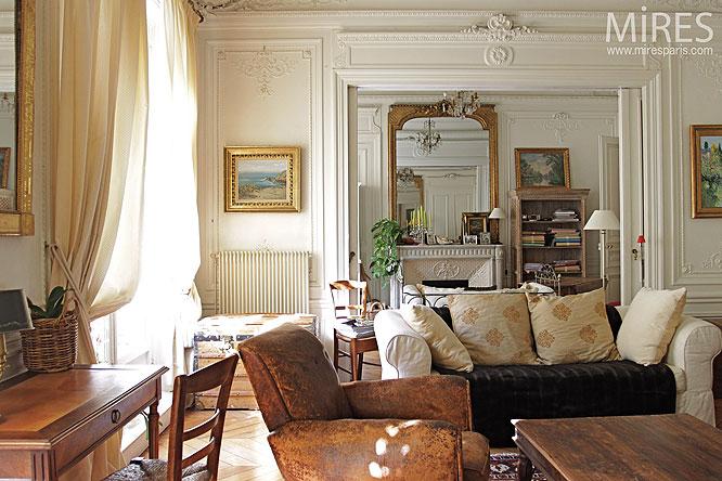 Double sjour haussmannien C0286  Mires Paris