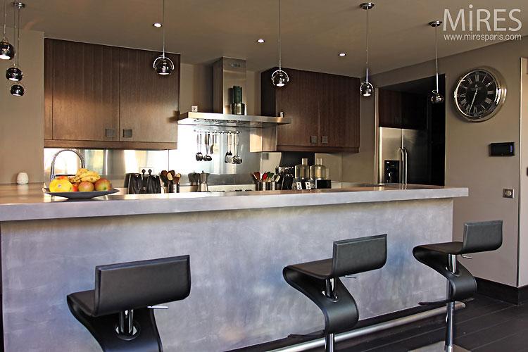 Cuisine ouverte design C0309  Mires Paris