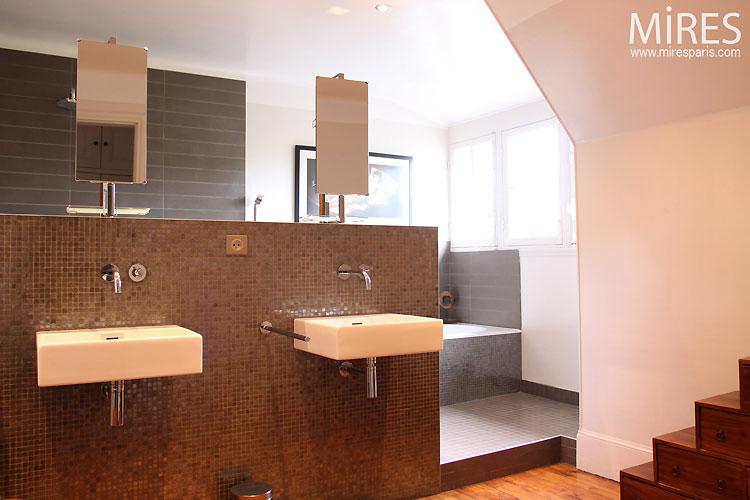 Salle de bain moderne C0329  Mires Paris