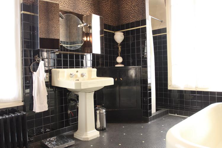 Meubles de style salle de bain rtro noire C0577  Mires Paris