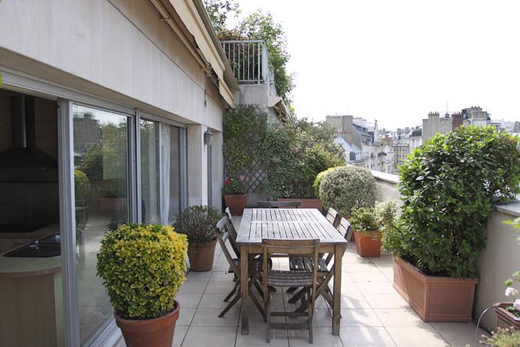 Terrasse soleil et plantes C0589  Mires Paris