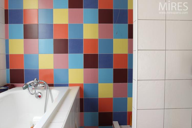 salle de bain multicolore c0643