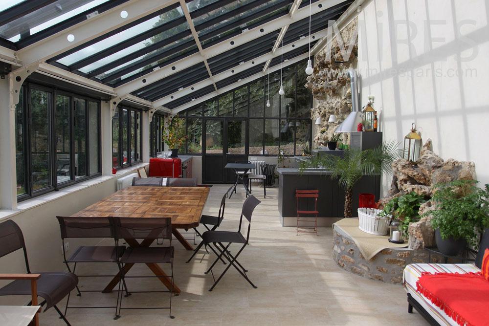 cuisine moderne ouverte sur salon